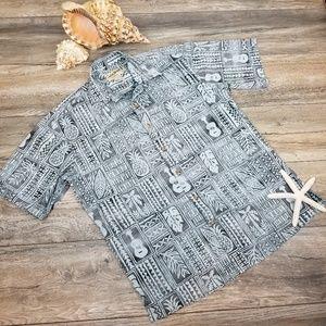 Vintage Cooke Street Honolulu Hawaiian shirt Sz S